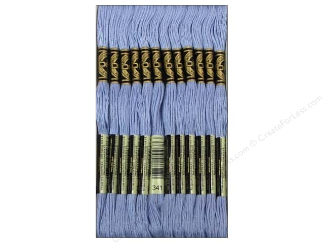 DMC Six-Strand Embroidery Floss #341 Light Blue Violet (12 skeins)