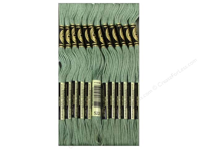 DMC Six-Strand Embroidery Floss #522 Fern Green (12 skeins)