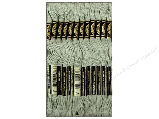 DMC Six-Strand Embroidery Floss #524 Very Light Fern Green (12 skeins)