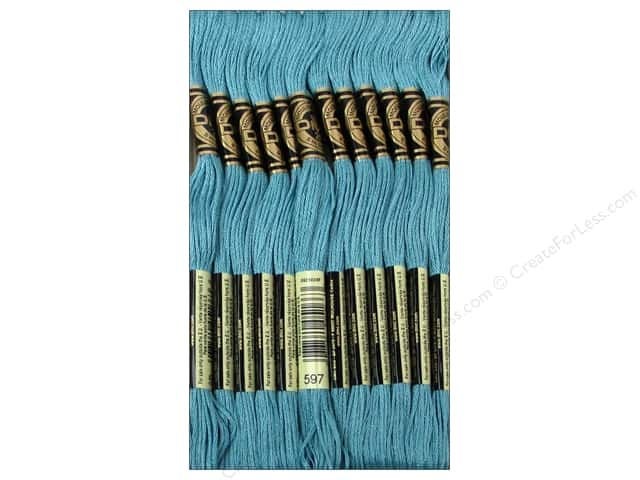 DMC Six-Strand Embroidery Floss #597 Turquoise (12 skeins)