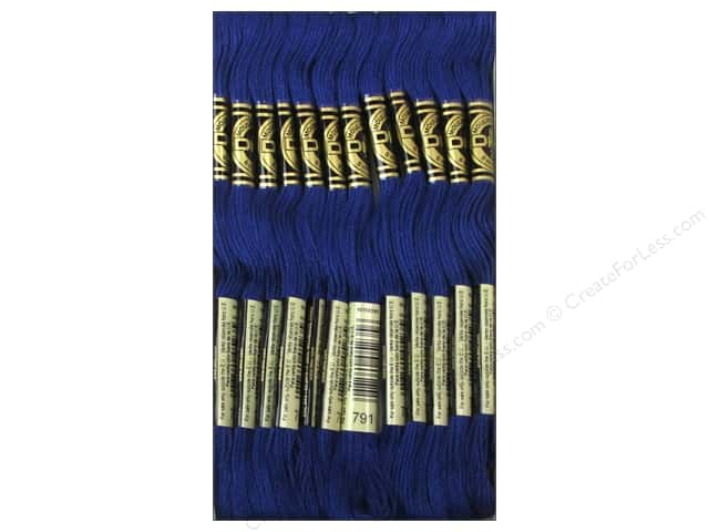 DMC Six-Strand Embroidery Floss #791 Very Dark Cornflower Blue (12 skeins)
