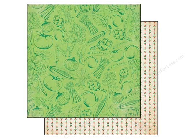 BasicGrey 12 x 12 in. Paper Herbs & Honey Peas (25 sheets)
