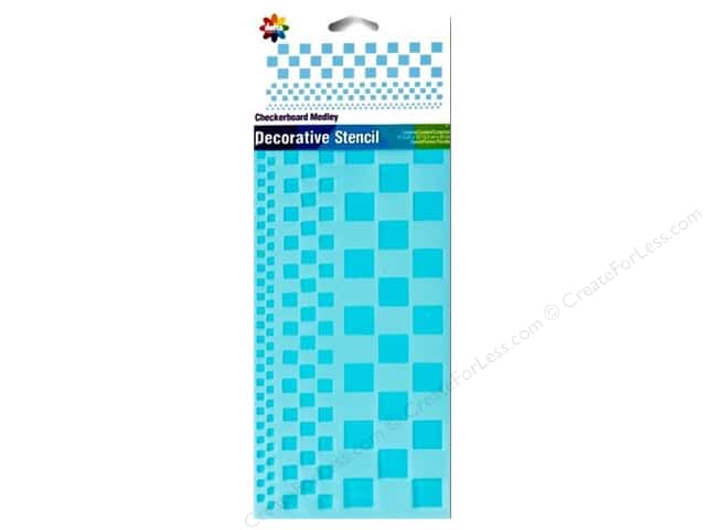Delta Stencil 5 1/4 x 13 in. Checkerboard Medley