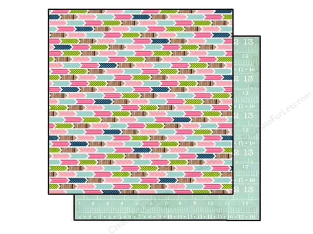 Carta Bella 12 x 12 in. Paper Sew Lovely Arrows (25 sheets)