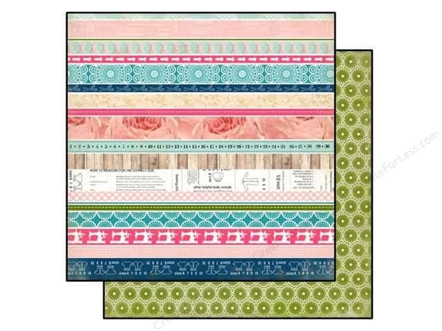 Carta Bella 12 x 12 in. Paper Sew Lovely Border Strips (25 sheets)