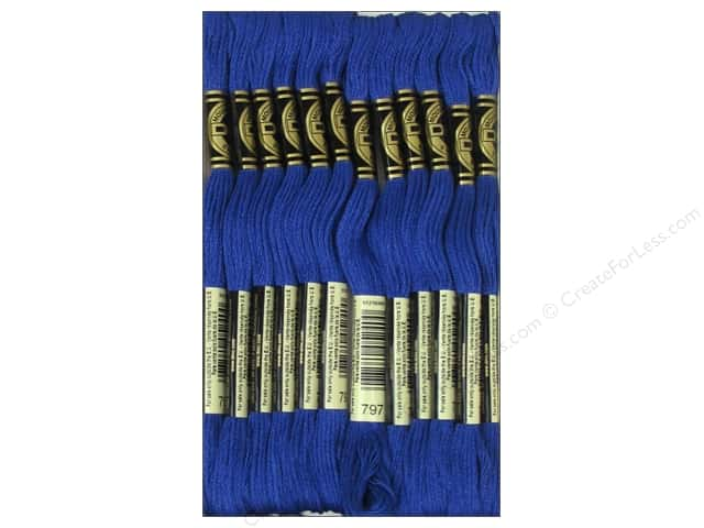 DMC Six-Strand Embroidery Floss #797 Royal Blue (12 skeins)