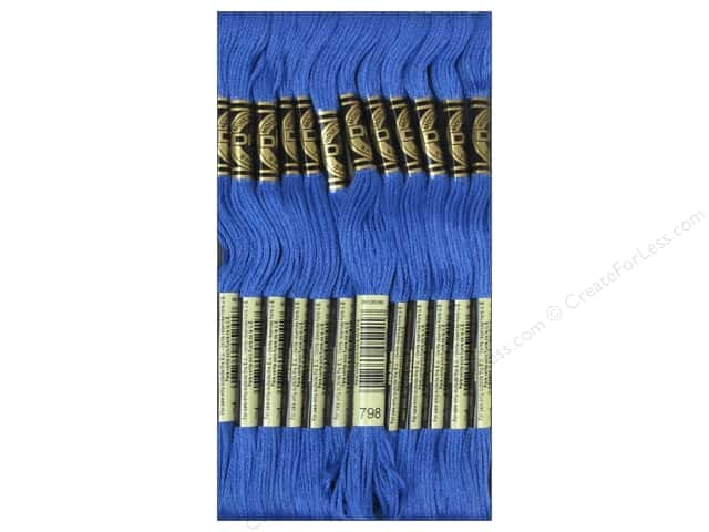 DMC Six-Strand Embroidery Floss #798 Dark Delft Blue (12 skeins)