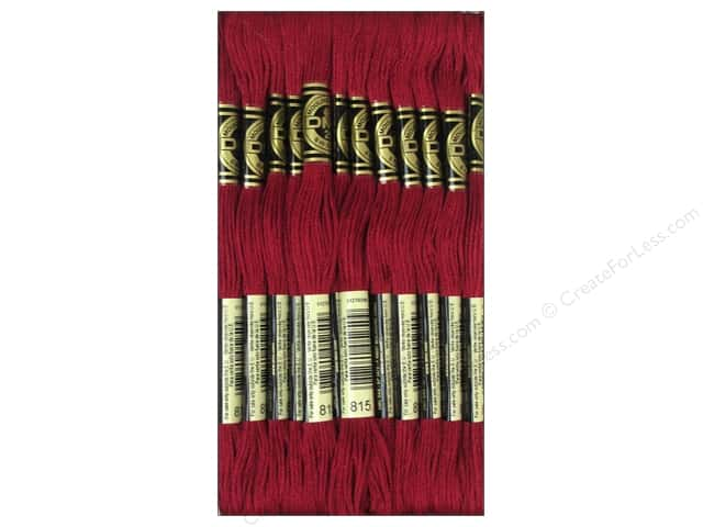 DMC Six-Strand Embroidery Floss #815 Medium Garnet (12 skeins)