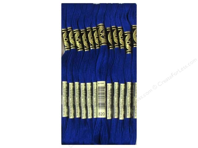 DMC Six-Strand Embroidery Floss #820 Very Dark Royal Blue (12 skeins)
