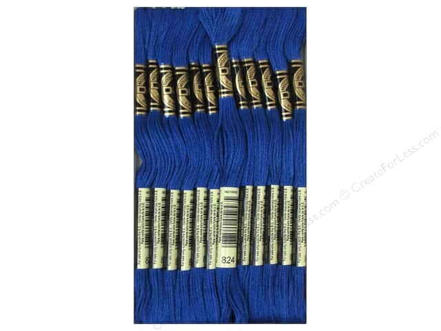 DMC Six-Strand Embroidery Floss #824 Very Dark Blue (12 skeins)