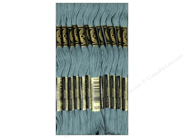 DMC Six-Strand Embroidery Floss #926 Medium Grey Green (12 skeins)