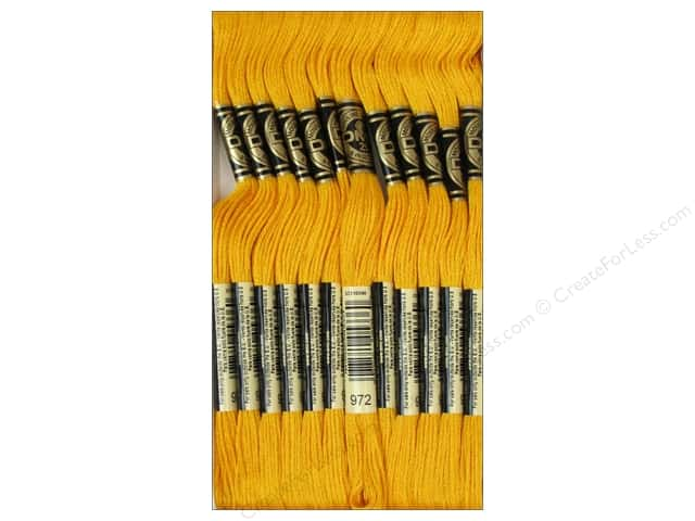 DMC Six-Strand Embroidery Floss #972 Deep Canary (12 skeins)