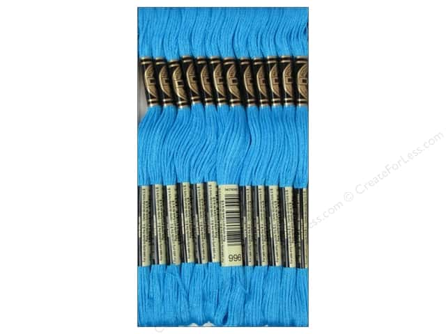 DMC Six-Strand Embroidery Floss #996 Medium Electric Blue (12 skeins)