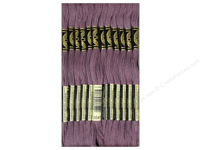 DMC Six-Strand Embroidery Floss #3041 Medium Antique Violet (12 skeins)