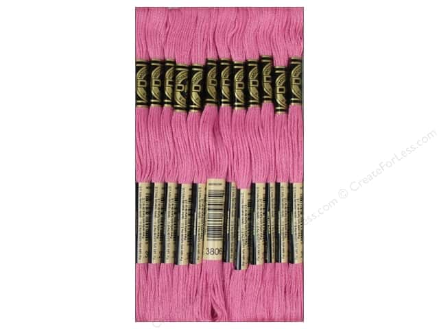 DMC Six-Strand Embroidery Floss #3806 Light Cyclamen Pink (12 skeins)