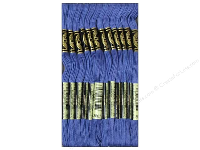 DMC Six-Strand Embroidery Floss #3807 Cornflower Blue (12 skeins)