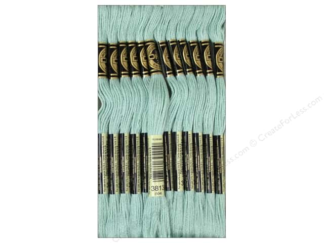DMC Six-Strand Embroidery Floss #3813 Light Blue Green (12 skeins)