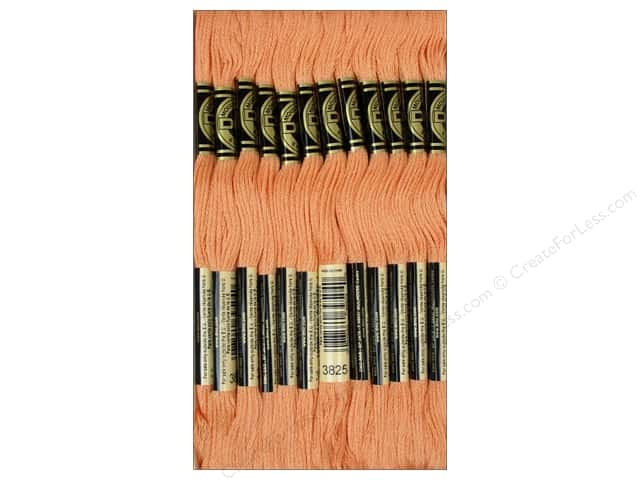DMC Six-Strand Embroidery Floss #3825 Pale Pumpkin (12 skeins)