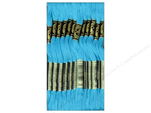 DMC Six-Strand Embroidery Floss #3846 Light Bright Turquoise (12 skeins)