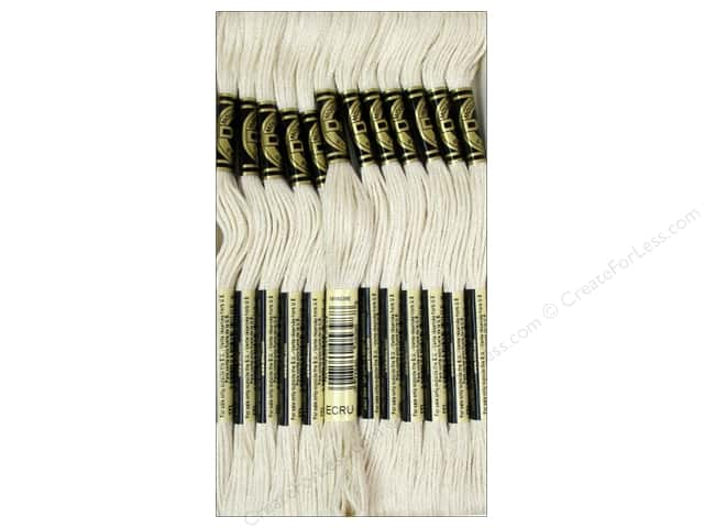 DMC Six-Strand Embroidery Floss Ecru (12 skeins)