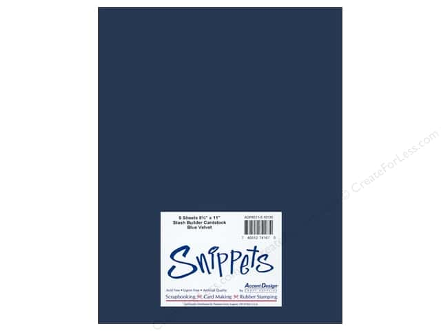 Cardstock 8 1/2 x 11 in. #10130 Stash Builder Blue Velvet by Paper Accents 5 pc.
