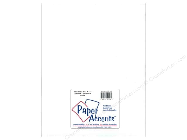 Paper Accents Cardstock 8 1/2 x 11 in. #128 Smooth White 50 pc.