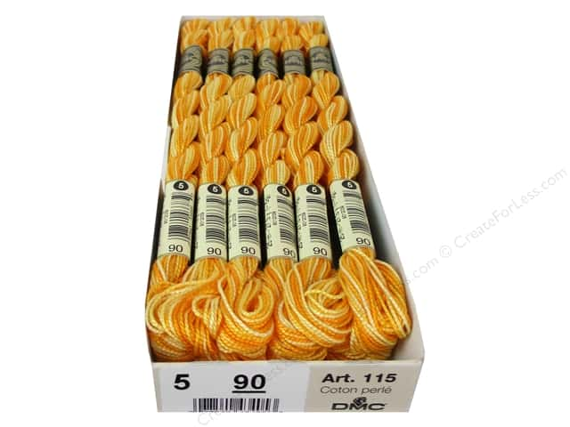 DMC Pearl Cotton Skein Size 5 #90 Varigated Yellow (12 skeins)