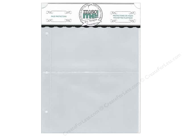 Bo Bunny Misc Me Recipe Page Protectors 8 x 9 in. 40 pc.
