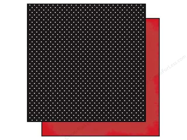 Simple Stories 12 x 12 in. Paper DIY Boutique Polka & Red (25 sheets)