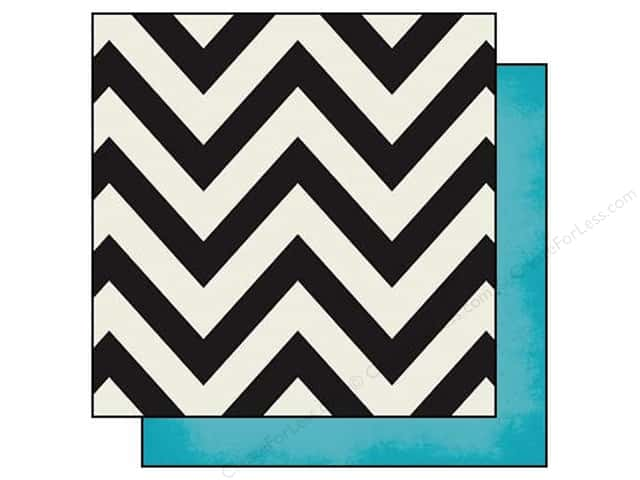 Simple Stories 12 x 12 in. Paper DIY Boutique Chevron & Teal (25 sheets)