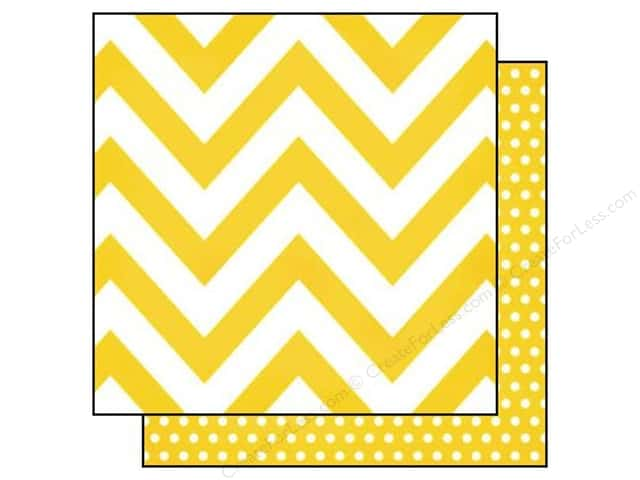 Simple Stories 12 x 12 in. Paper DIY Boutique Yellow Chevron & Dots (25 sheets)