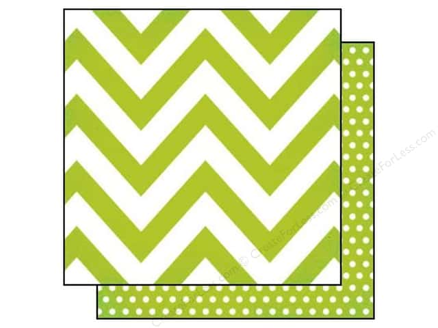 Simple Stories 12 x 12 in. Paper DIY Boutique Green Chevron & Dots (25 sheets)
