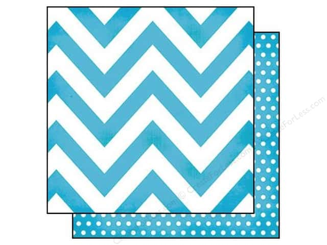 Simple Stories 12 x 12 in. Paper DIY Boutique Teal Chevron & Dots (25 sheets)