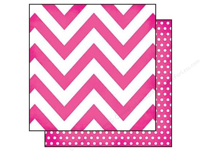 Simple Stories 12 x 12 in. Paper DIY Boutique Pink Chevron & Dots (25 sheets)