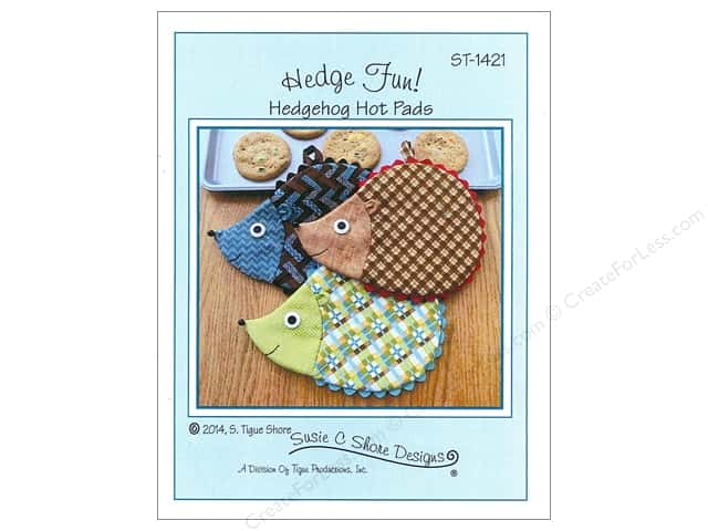 Susie C Shore Hedge Fun! Hedgehog Hot Pads Pattern
