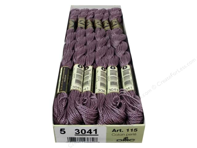 DMC Pearl Cotton Skein Size 5 #3041 Medium Antique Violet (12 skeins)