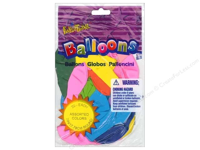 Pioneer Funsational Balloons 7 in. 20 pc. Assorted
