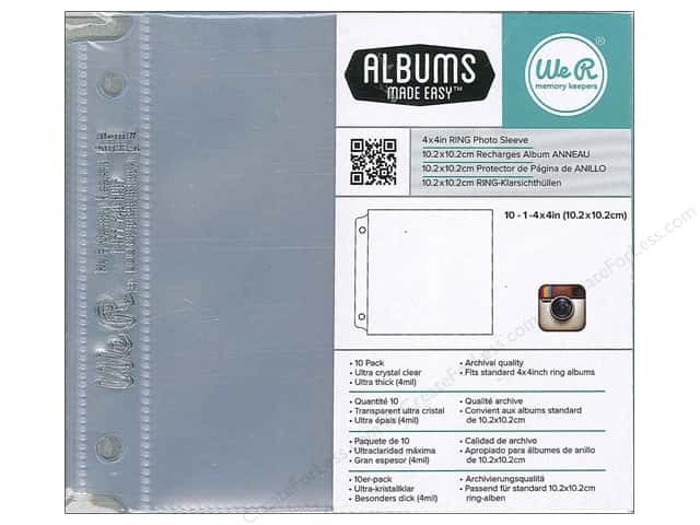 We R Memory Keepers Ring Photo Sleeves 4 x 4 in. 10 pc.