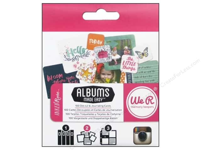 We R Memory Keepers Albums Made Easy Journnaling Cards Inked Rose
