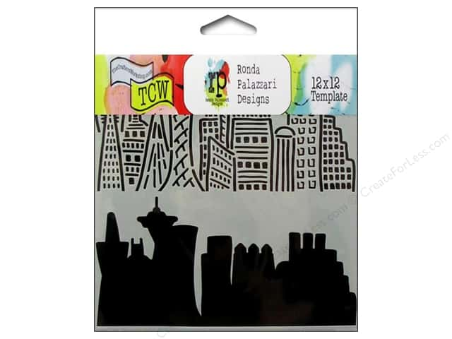 The Crafter's Workshop Template 12 x 12 in. Skyline