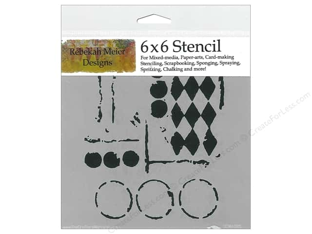 The Crafter's Workshop Template 6 x 6 in. Harlequin Circles