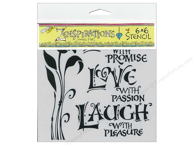 The Crafter's Workshop Template 6 x 6 in. Live Love Laugh