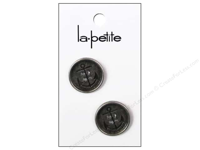 LaPetite 4 Hole Buttons 3/4 in. Antique Silver #2004 2 pc.