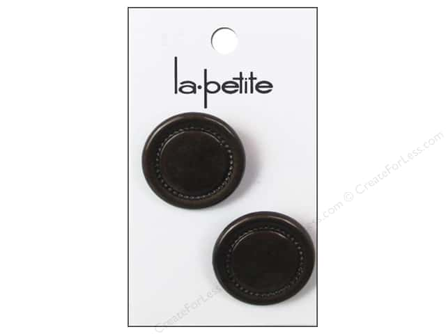 LaPetite Shank Buttons 1 in. Brown #2027 2 pc.