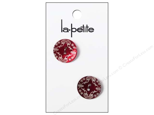 LaPetite 2 Hole Buttons 3/4 in. Red #2053 2 pc.
