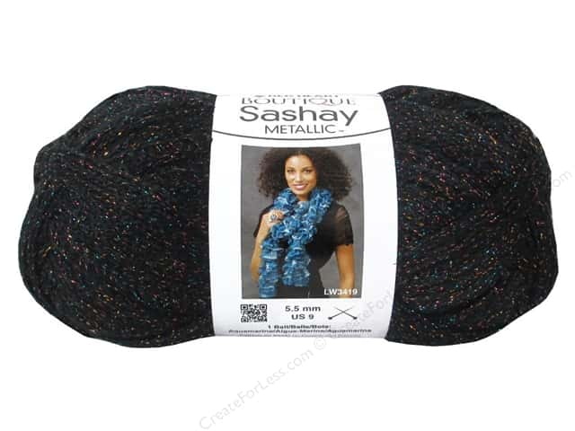 Red Heart Boutique Sashay Yarn #1112 Metallic Onyx 30 yd.