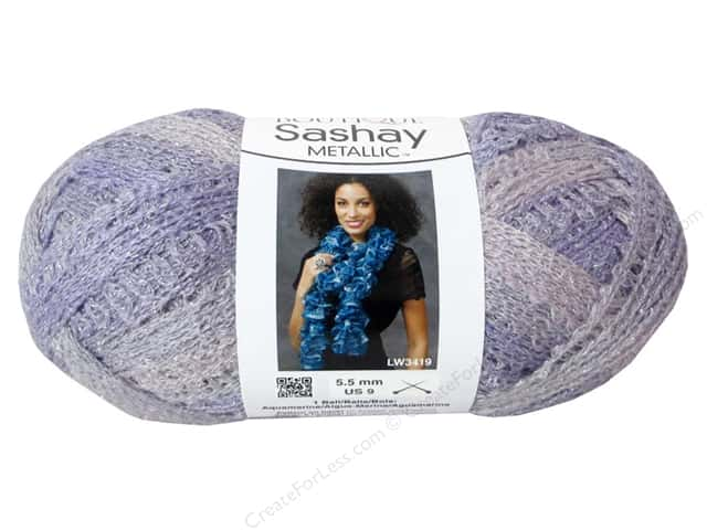 Red Heart Boutique Sashay Yarn #1957 Metallic Icy Lilac 30 yd.