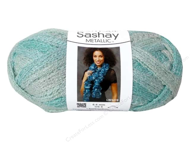 Red Heart Boutique Sashay Yarn #1961 Metallic Icy Mint 30 yd.
