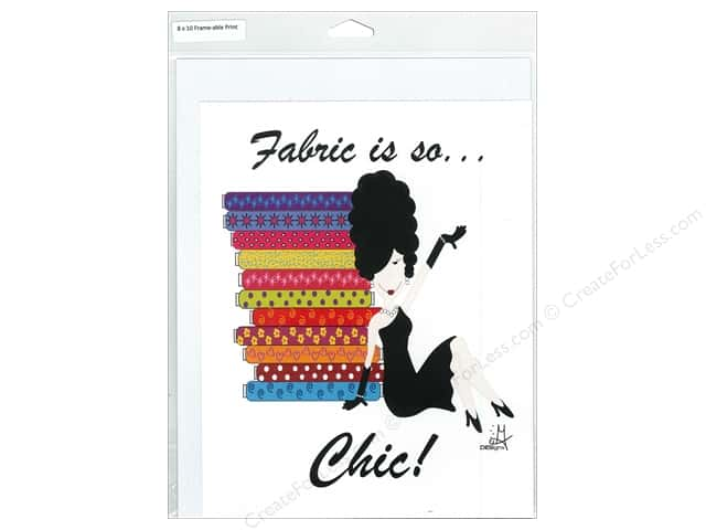 Fabric Fanatics Poster Fabric Is So ..Chic!