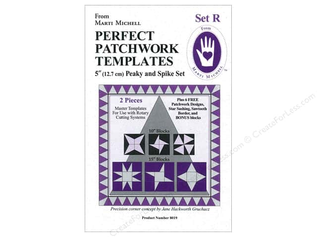 Marti Michell Template Set R Peaky & Spike 5""